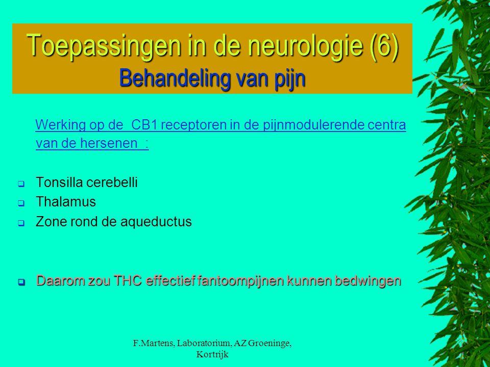 Toepassingen in de neurologie (6) Behandeling van pijn