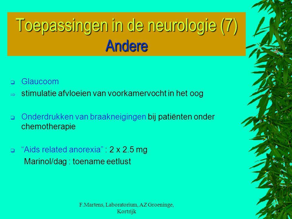 Toepassingen in de neurologie (7) Andere