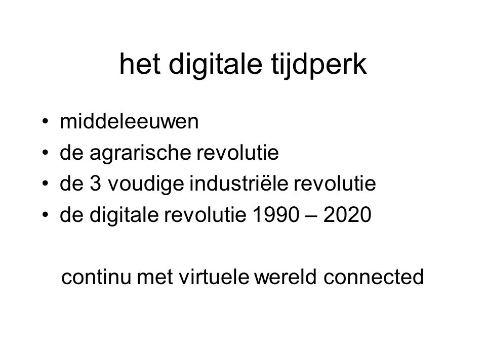 continu met virtuele wereld connected