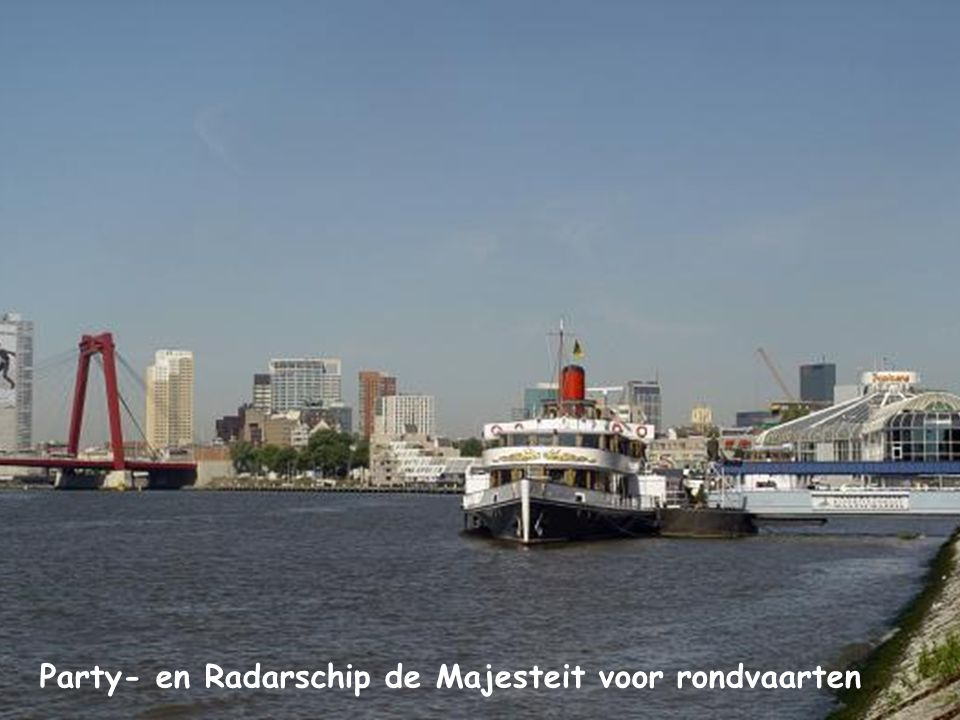 Party- en Radarschip de Majesteit voor rondvaarten