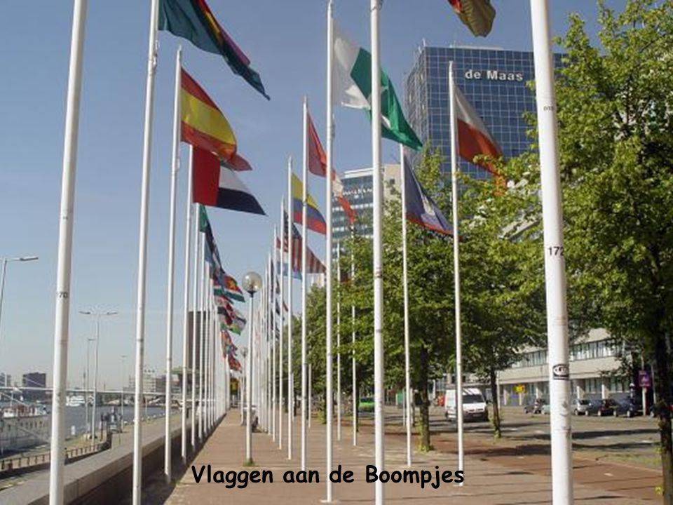 Vlaggen aan de Boompjes