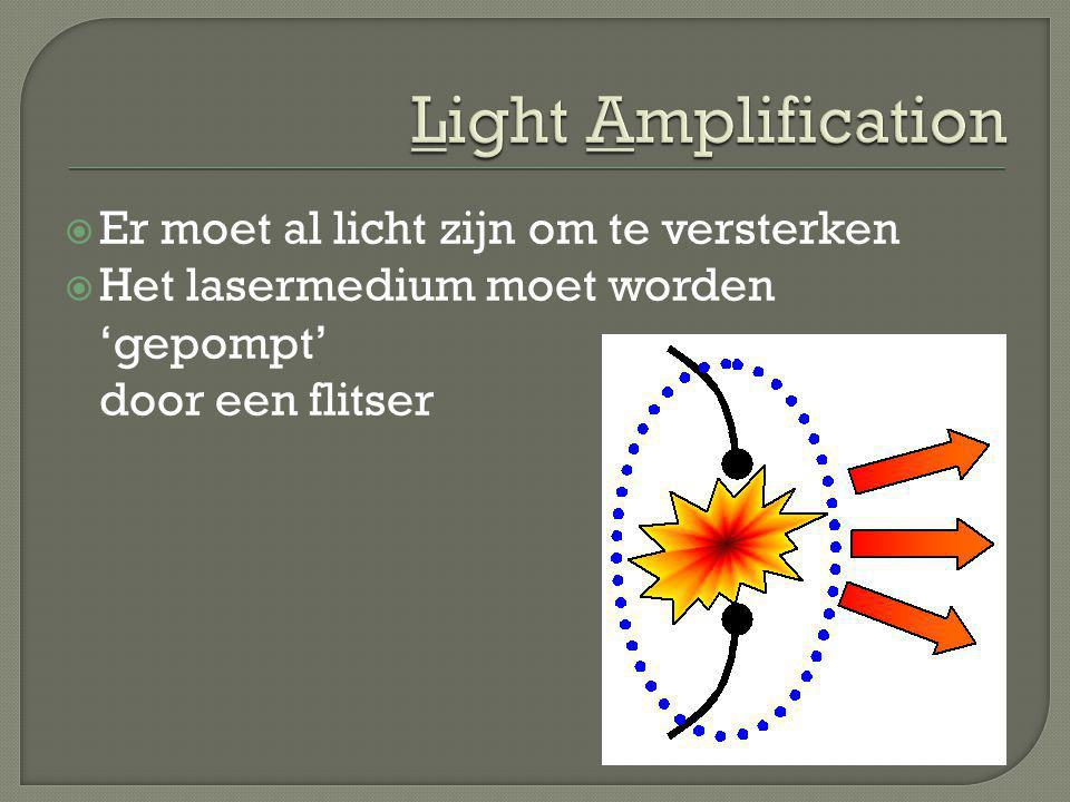 Light Amplification Er moet al licht zijn om te versterken