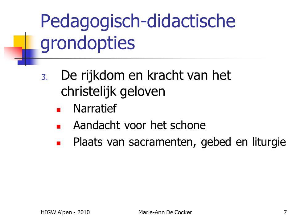Pedagogisch-didactische grondopties