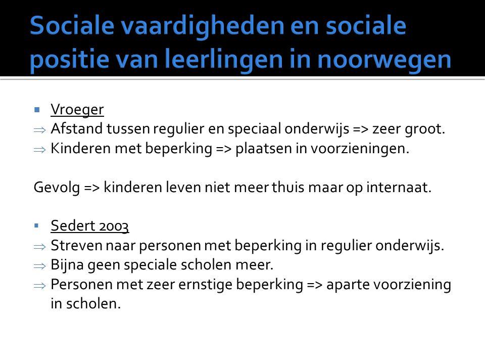 Sociale vaardigheden en sociale positie van leerlingen in noorwegen