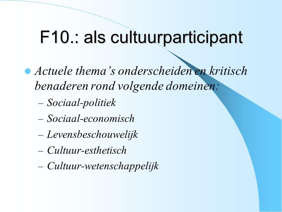 F10.: als cultuurparticipant