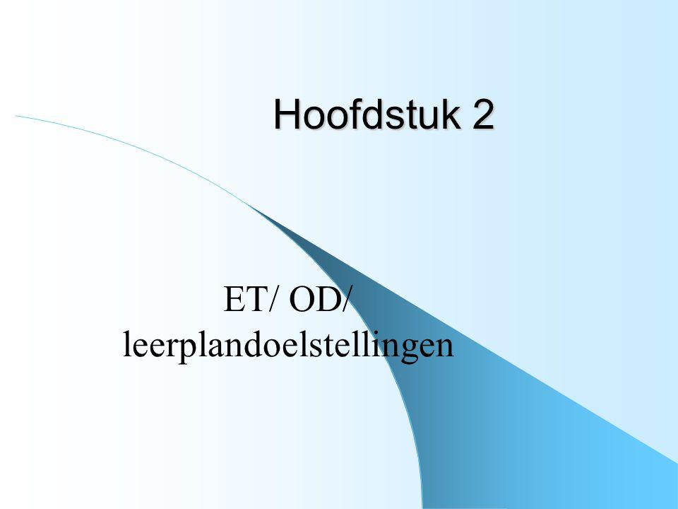 ET/ OD/ leerplandoelstellingen