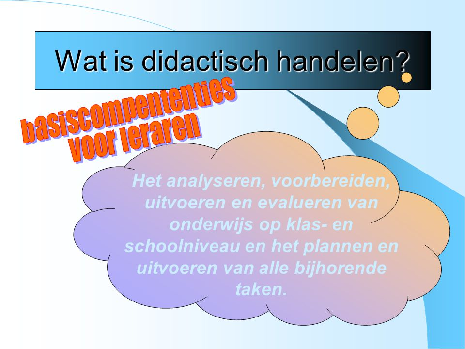 Wat is didactisch handelen