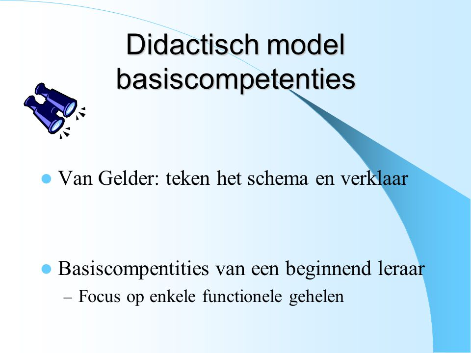 Didactisch model basiscompetenties