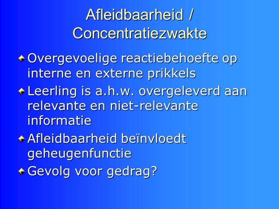 Afleidbaarheid / Concentratiezwakte