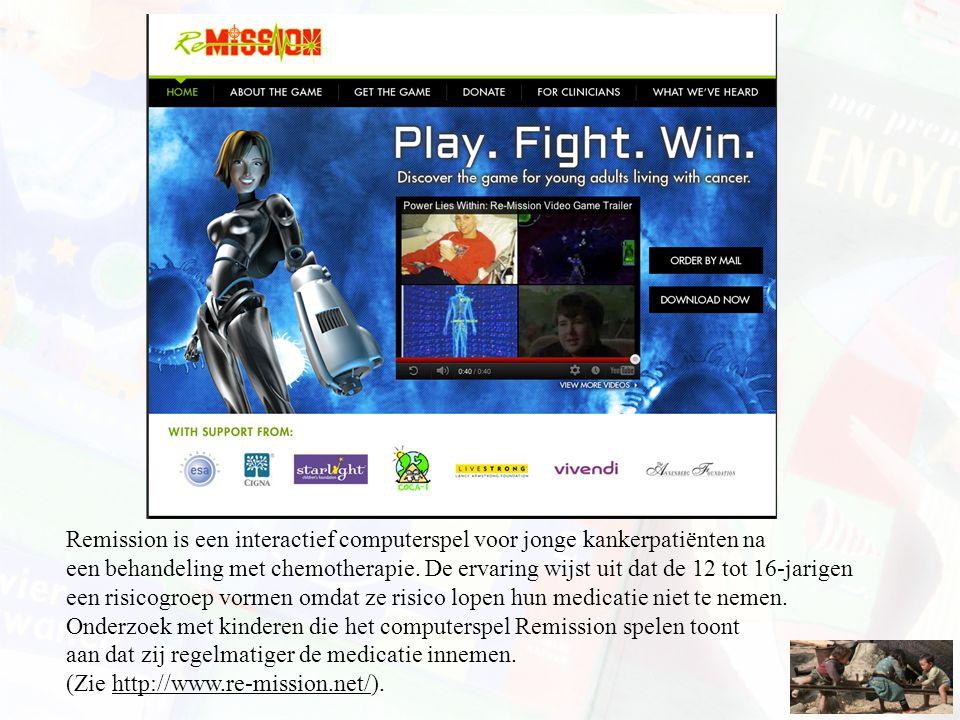 Remission is een interactief computerspel voor jonge kankerpatiënten na