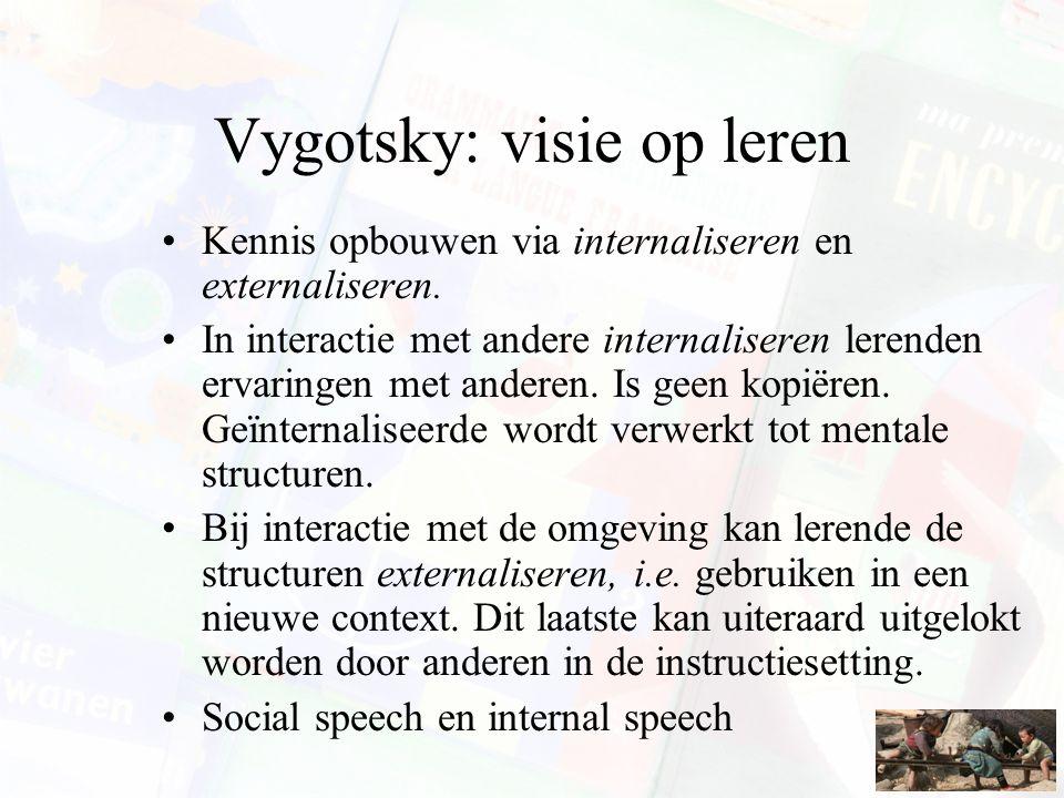 Vygotsky: visie op leren