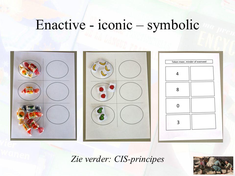 Enactive - iconic – symbolic Zie verder: CIS-principes