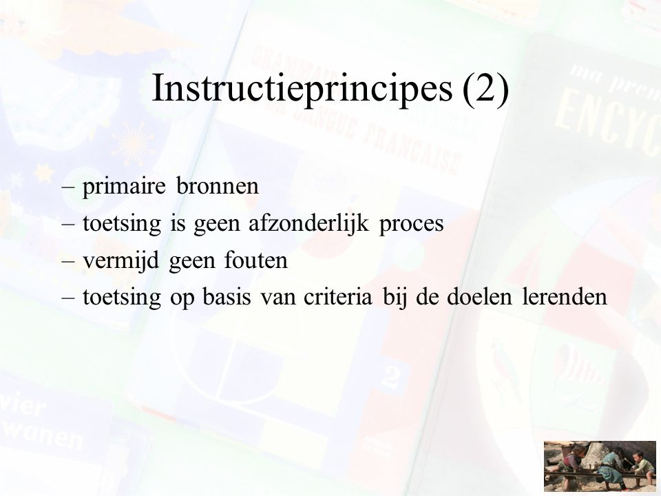 Instructieprincipes (2)