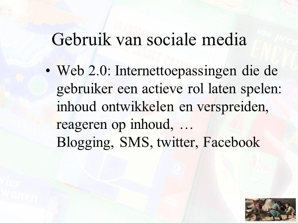 Gebruik van sociale media