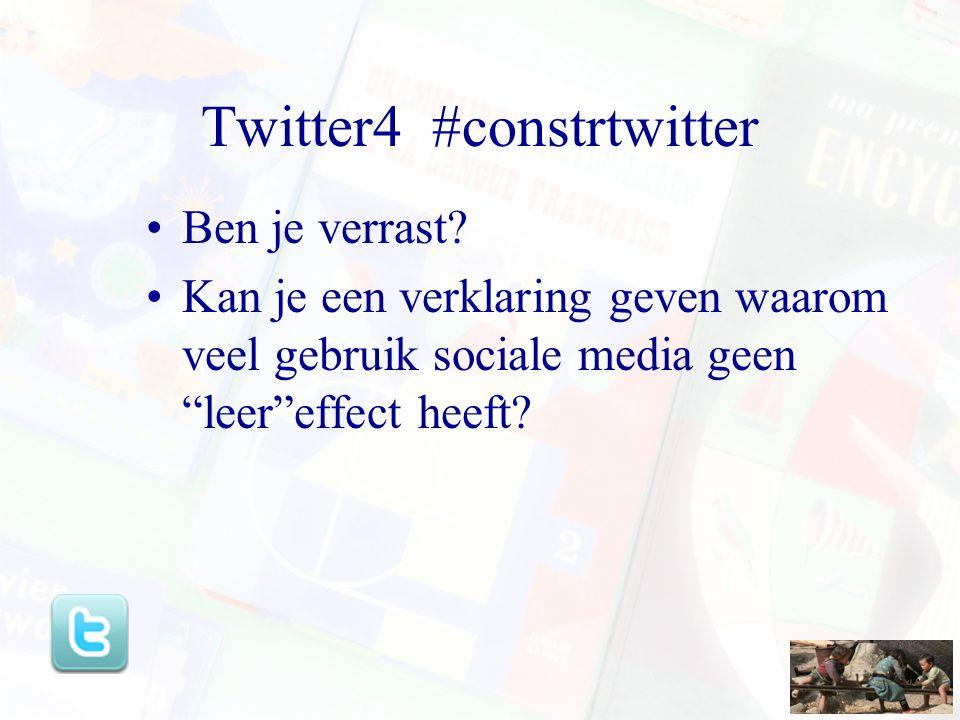 Twitter4 #constrtwitter