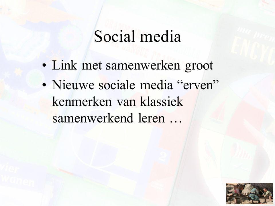 Social media Link met samenwerken groot