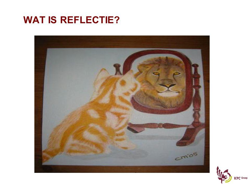 WAT IS REFLECTIE Wat is nou precies reflectie en wat doet reflectie