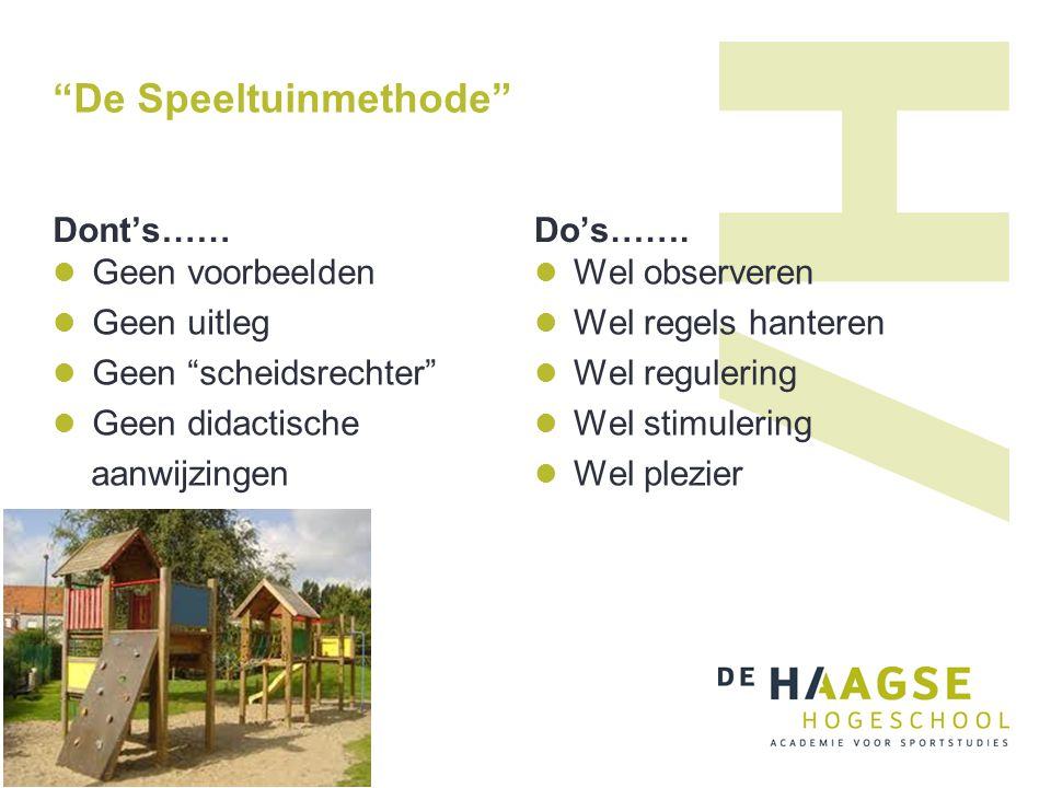De Speeltuinmethode