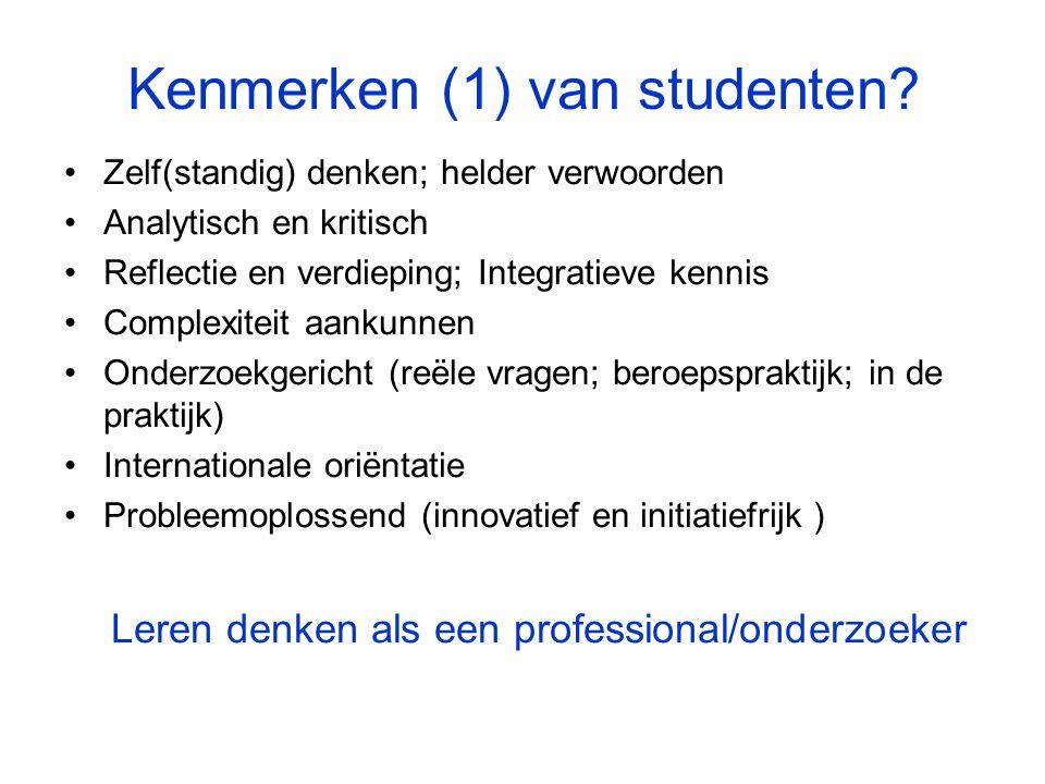 Kenmerken (1) van studenten