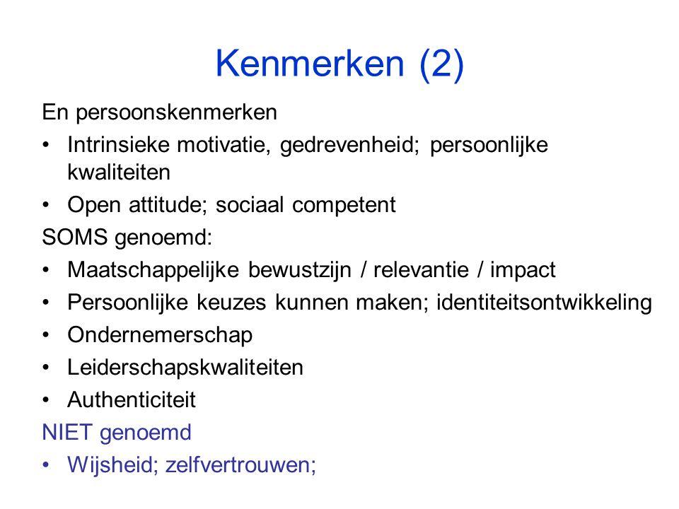 Kenmerken (2) En persoonskenmerken