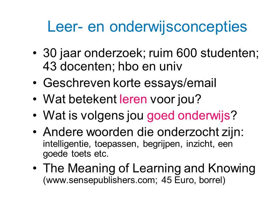 Leer- en onderwijsconcepties