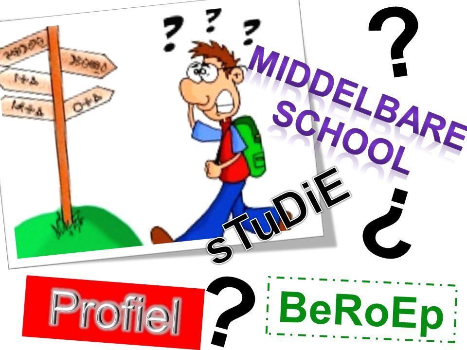 Middelbare school sTuDiE Profiel BeRoEp