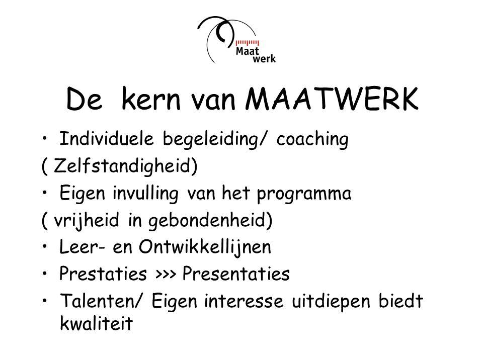 De kern van MAATWERK Individuele begeleiding/ coaching