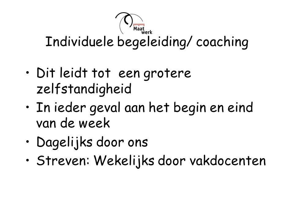 Individuele begeleiding/ coaching