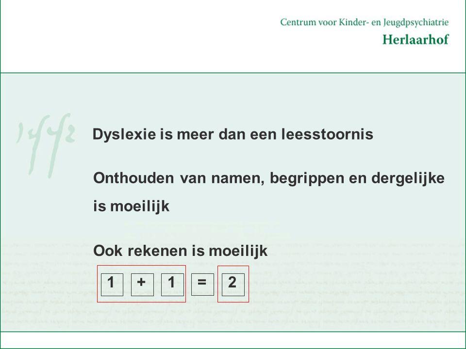 Dyslexie is meer dan een leesstoornis