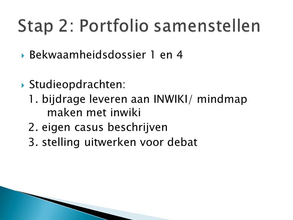 Stap 2: Portfolio samenstellen