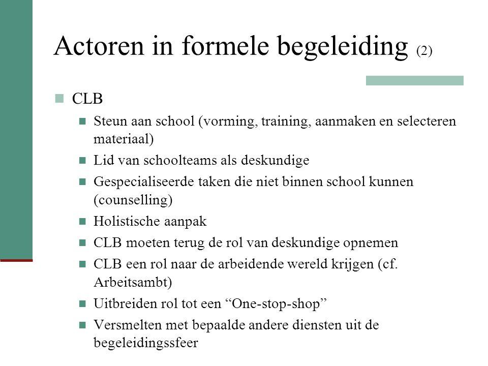 Actoren in formele begeleiding (2)