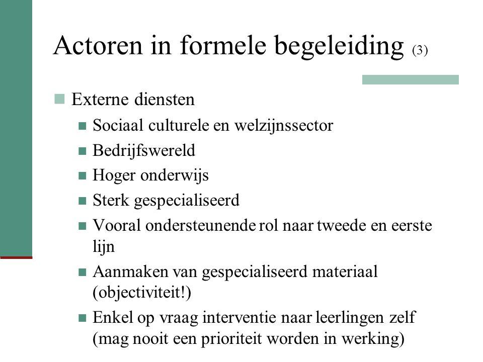 Actoren in formele begeleiding (3)