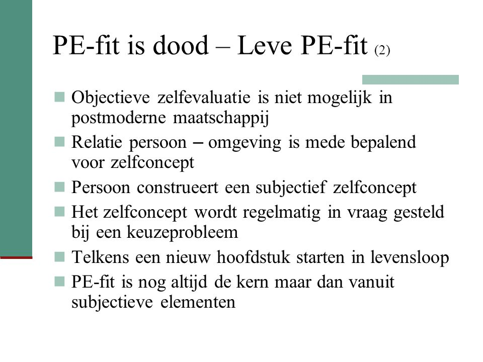 PE-fit is dood – Leve PE-fit (2)