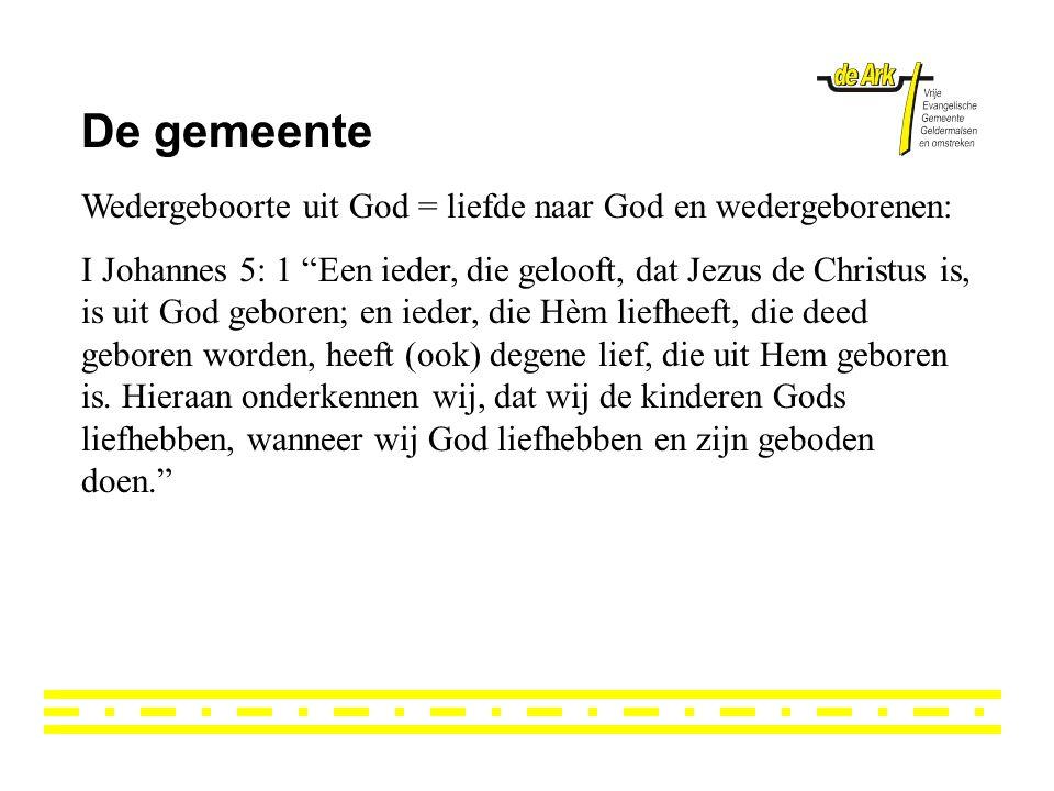 De gemeente Wedergeboorte uit God = liefde naar God en wedergeborenen: