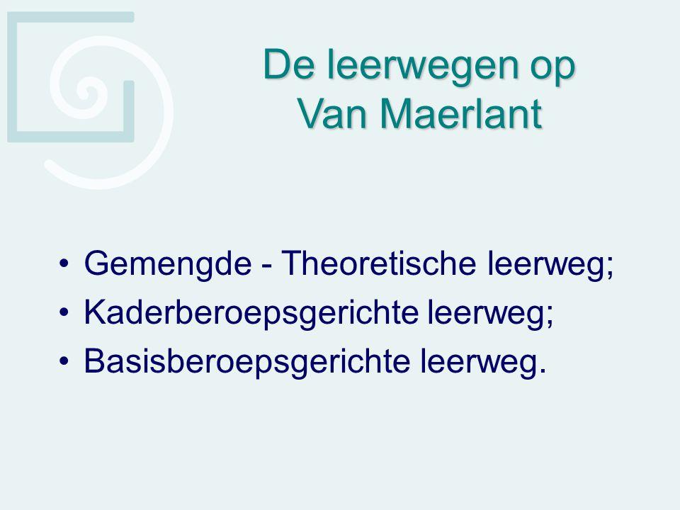 De leerwegen op Van Maerlant