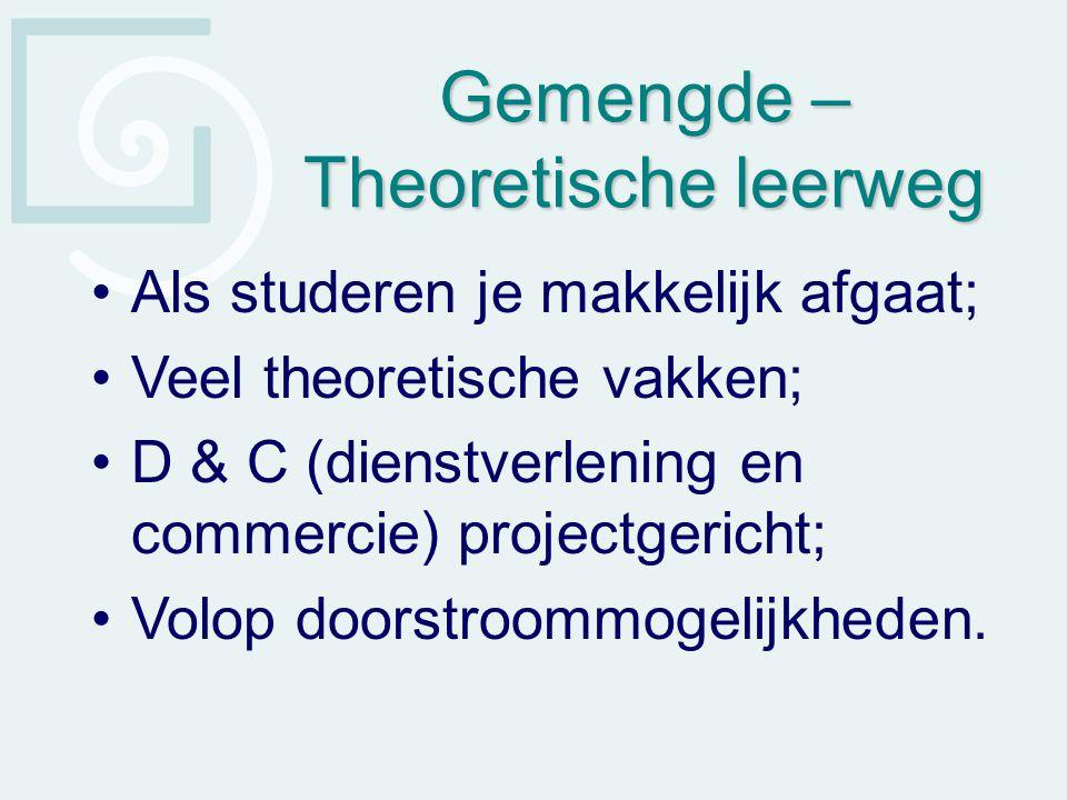 Gemengde – Theoretische leerweg