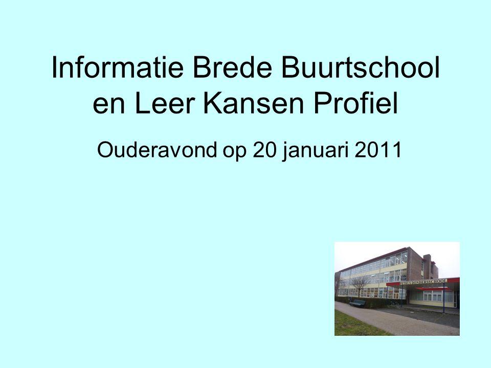 Informatie Brede Buurtschool en Leer Kansen Profiel
