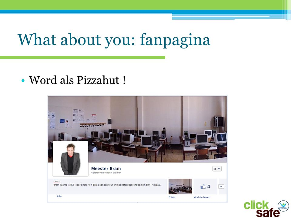 What about you: fanpagina