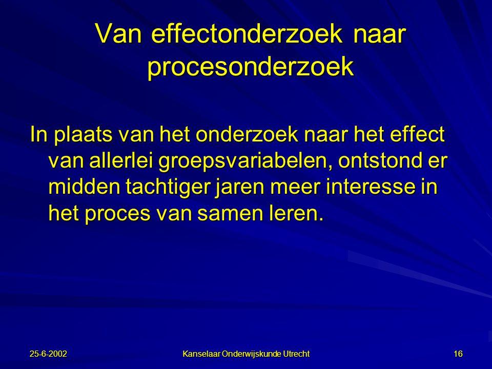 Van effectonderzoek naar procesonderzoek