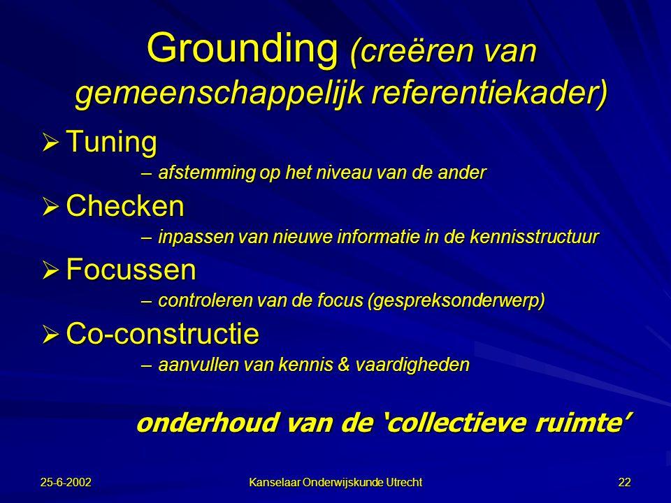 Grounding (creëren van gemeenschappelijk referentiekader)