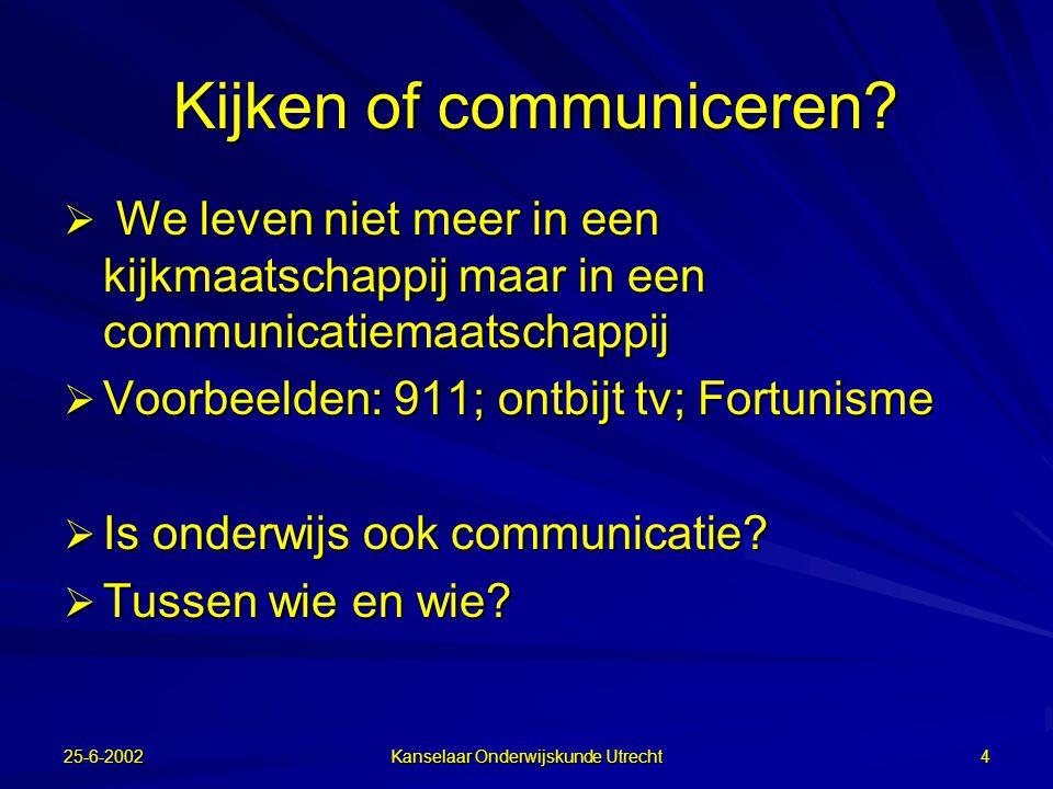 Kijken of communiceren