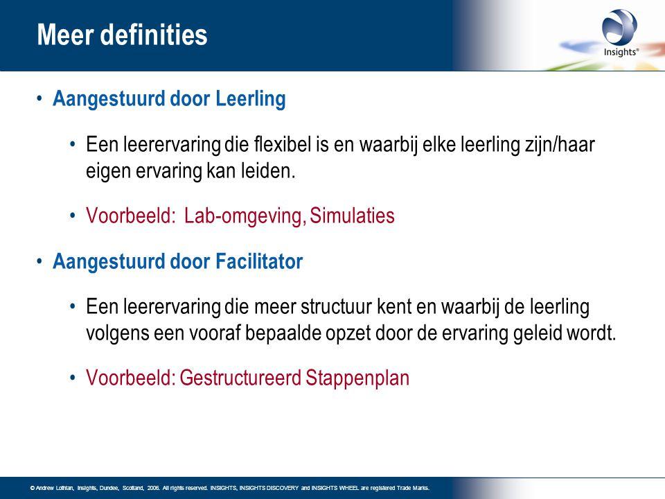 Meer definities Aangestuurd door Leerling