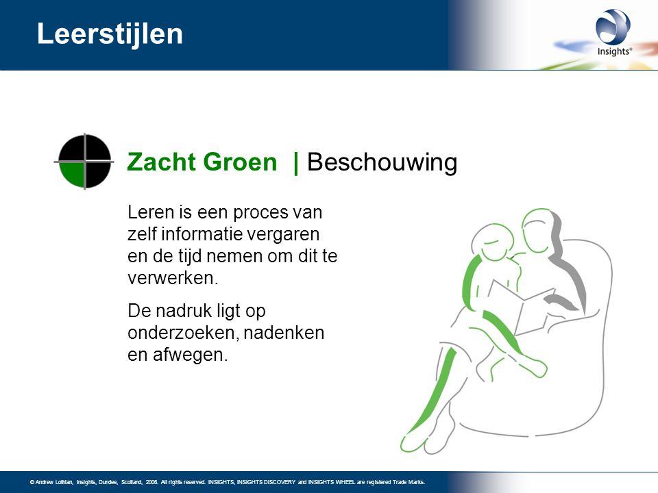Leerstijlen Zacht Groen | Beschouwing