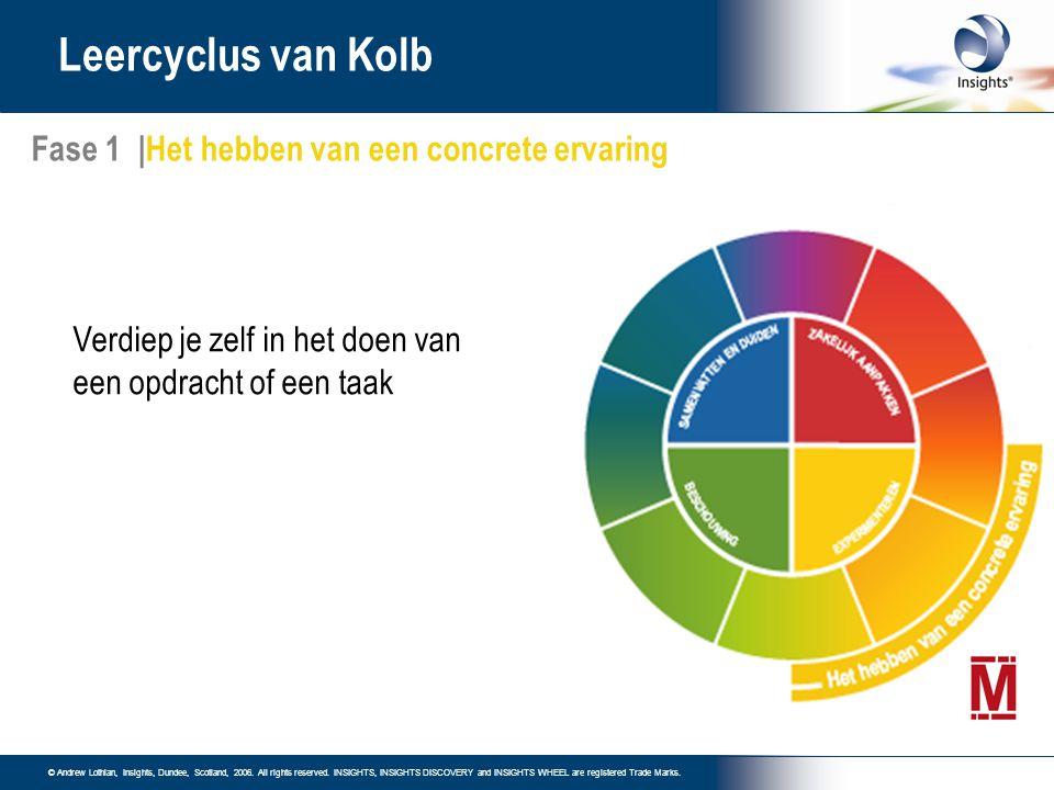 Leercyclus van Kolb Fase 1 |Het hebben van een concrete ervaring