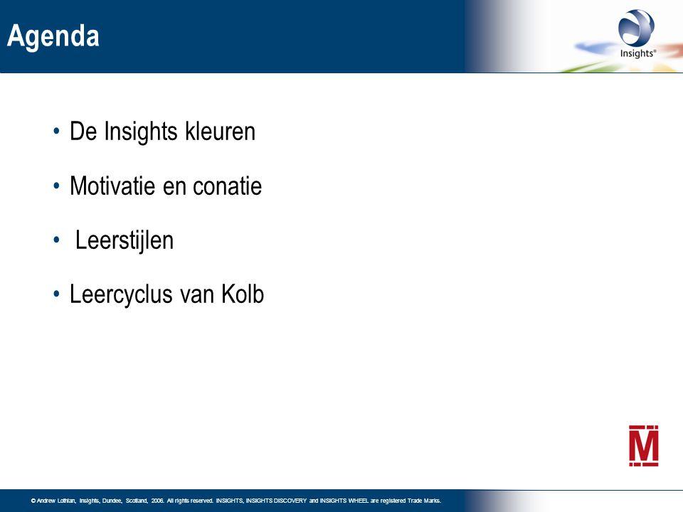 Agenda De Insights kleuren Motivatie en conatie Leerstijlen