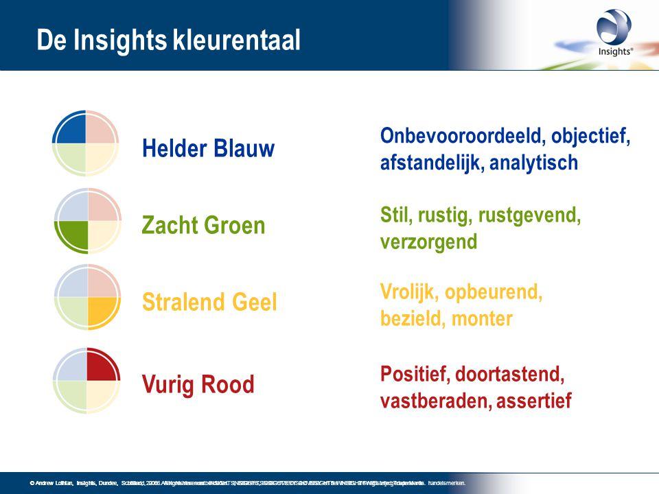 De Insights kleurentaal