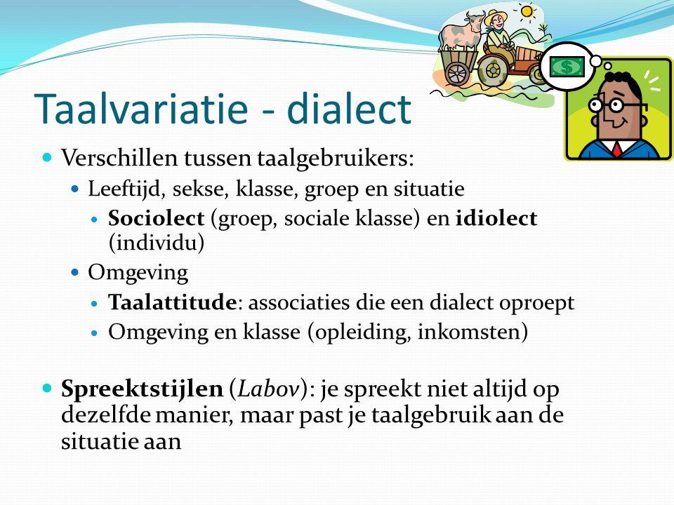 Taalvariatie - dialect