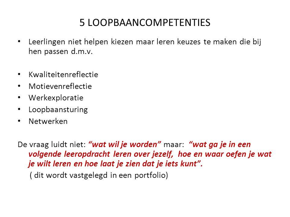 5 LOOPBAANCOMPETENTIES