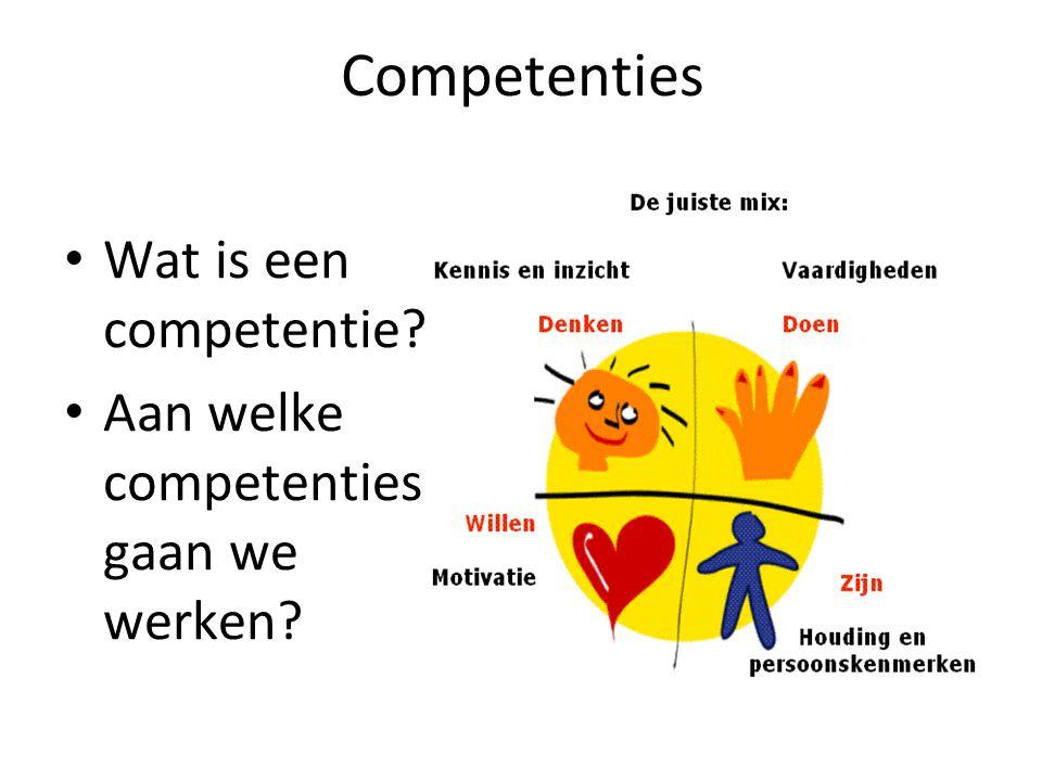 Competenties Wat is een competentie