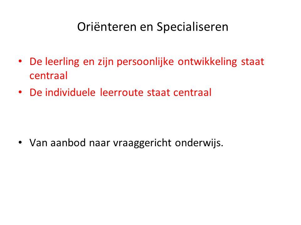 Oriënteren en Specialiseren